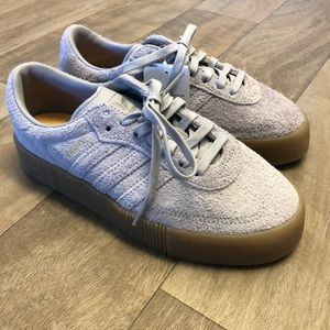 Adidas Samba Rose Grey Sneakers NWT Size 6